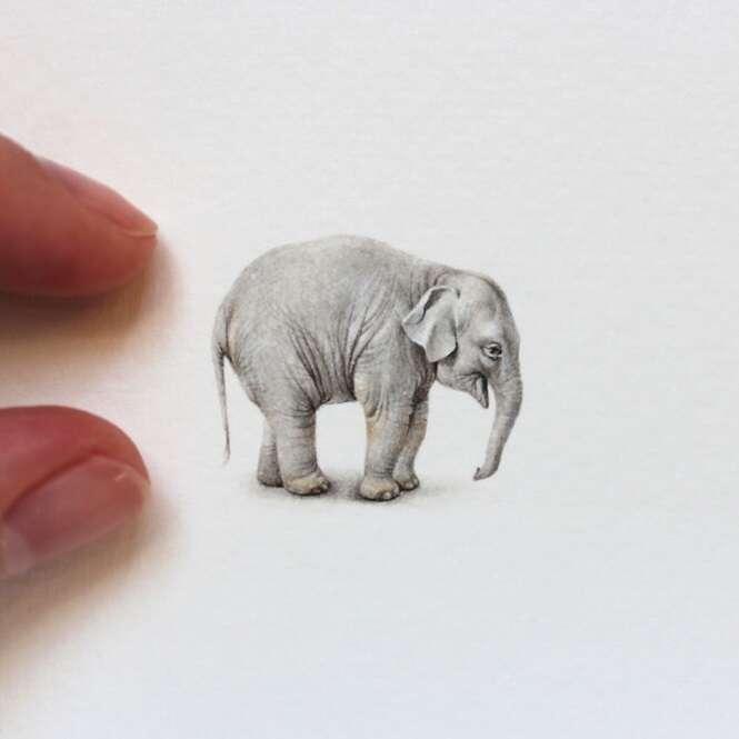 Belas pinturas minúsculas