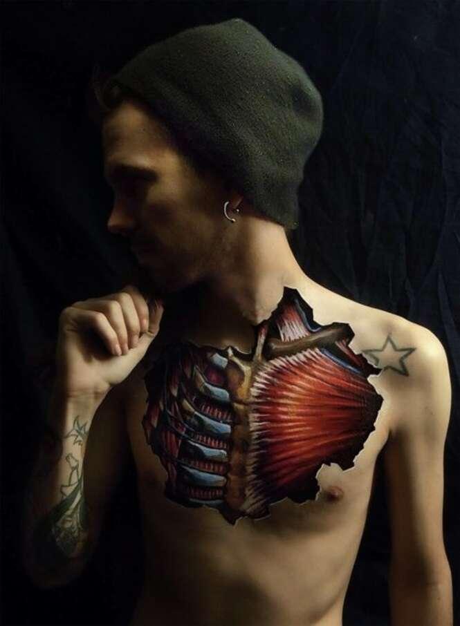 Artista mostra com perfeição o que temos debaixo da pele