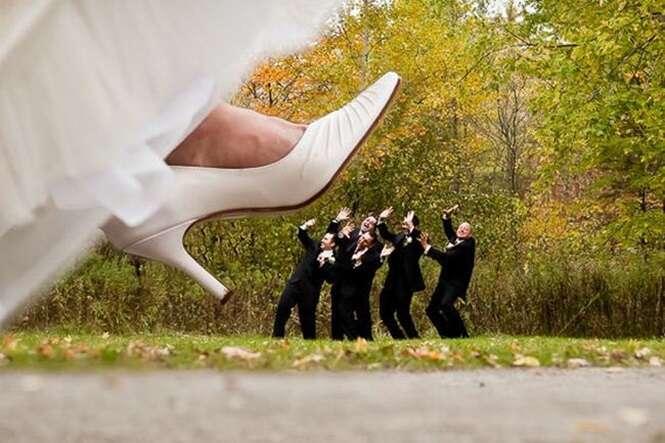 Noivos que roubaram a cena com suas fotos incríveis de casamento