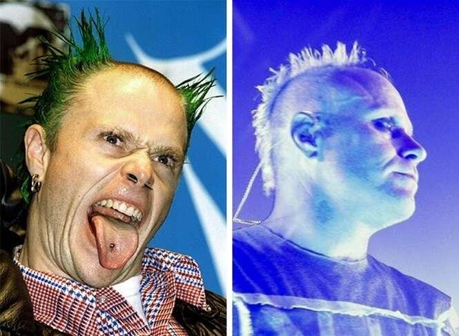 Estrelas do Rock dos anos 90 naquela época e hoje em dia