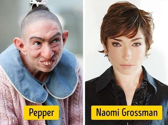 Beldades por trás de personagens famosas feias