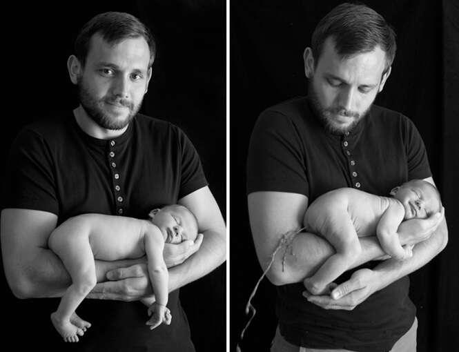 Bebês que arruinaram a sessão de fotos com os pais