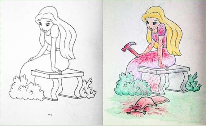 Adultos que não deveriam ter pegado livros infantis para colorir