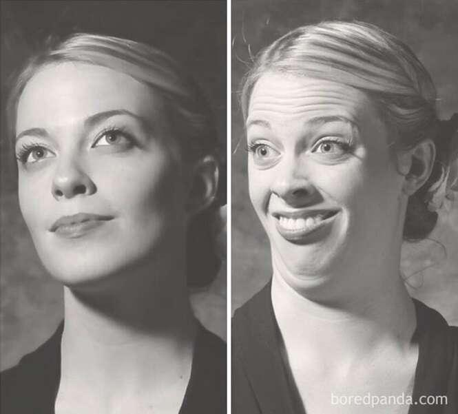 Antes e depois que, acredite ou não, mostram as mesmas mulheres