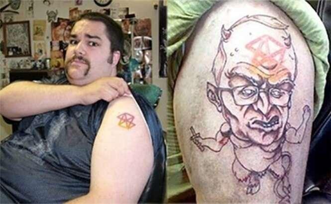 Pessoas que encontraram uma forma de se livrarem de tatuagens que não queriam mais