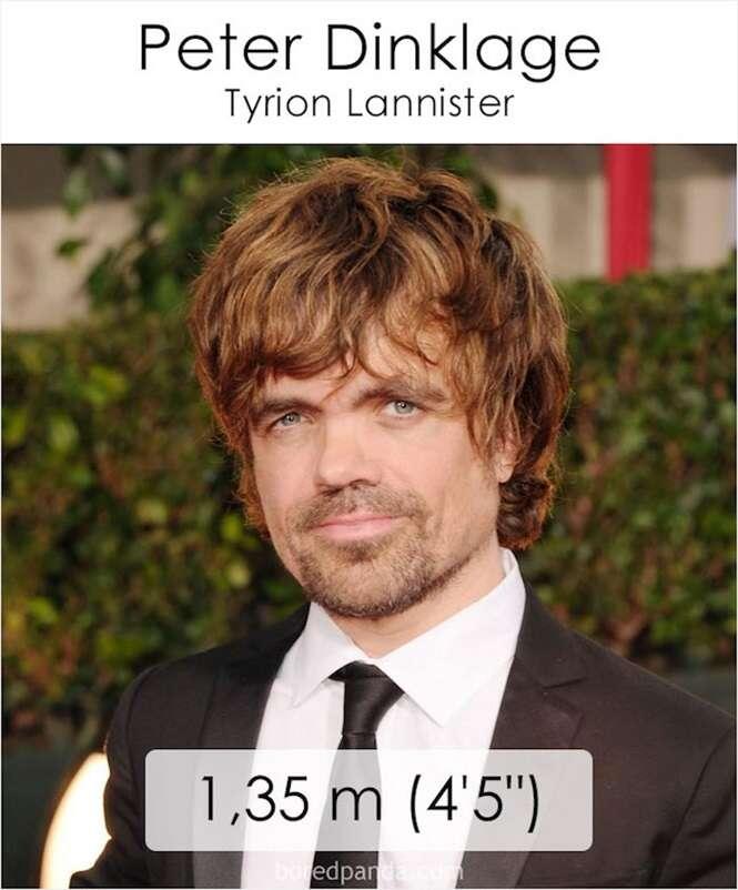 """Saiba qual a altura dos atores e atrizes de """"Game Of Thrones"""""""