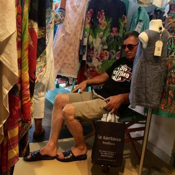 Homens que se arrependeram amargamente de terem acompanhado as esposas às compras