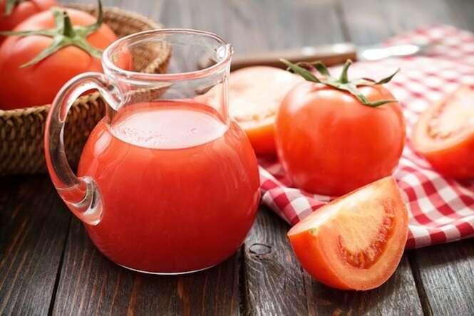 Para distúrbios do fígado, o suco de tomate é um ótimo remédio caseiro