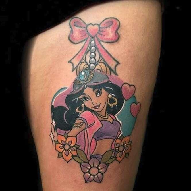 Essas tatuagens de princesas da Disney são perfeitas