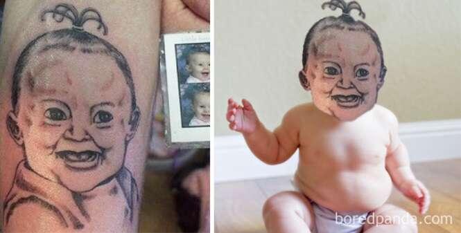 Imagens mostrando o quanto algumas tatuagens realmente são péssimas