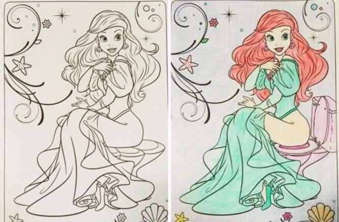 Isto é o que acontece quando adultos pegam livros infantis para colorir