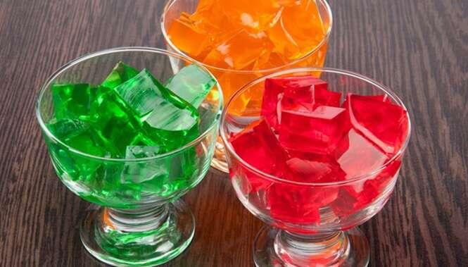 Use gelatina para evitar rugas e perder peso