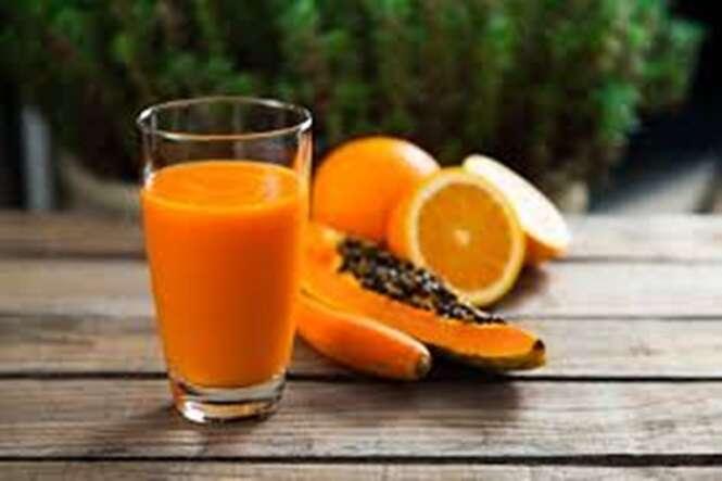 Para prisão de ventre, tome suco de mamão e laranja