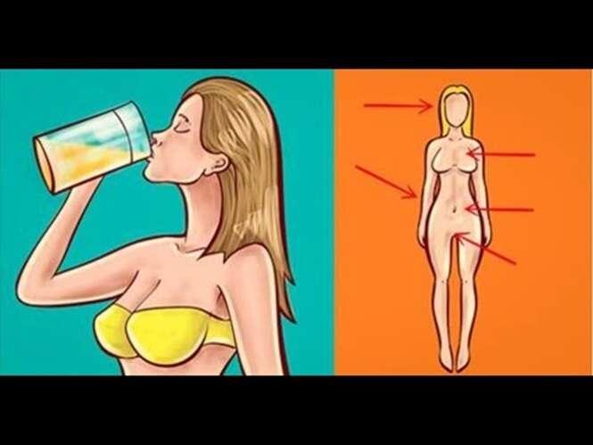 """Esta bebida faz """"milagres"""" ao corpo feminino – emagrece até 1,5 quilos por semana, acaba com o inchaço e equilibra os hormônios"""