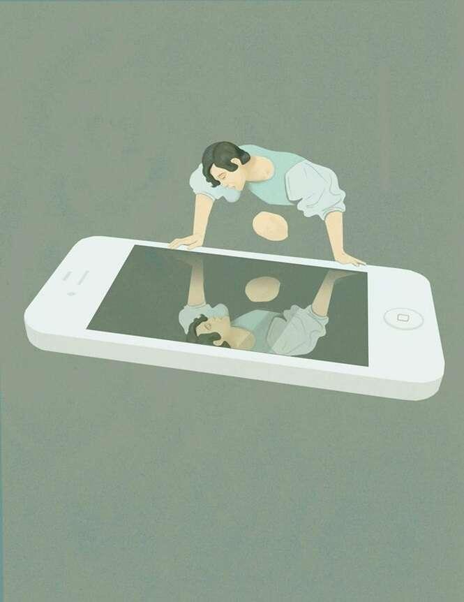 Ilustrações bem pensadas e tristes do mundo em que vivemos