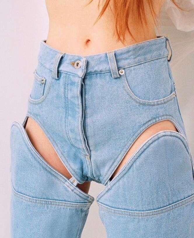 Jeans que nem todo mundo teria coragem de usar