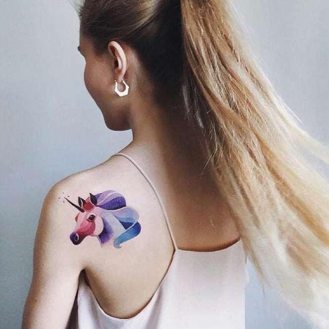 Tatuagens de aquarela que são verdadeiras obras de arte