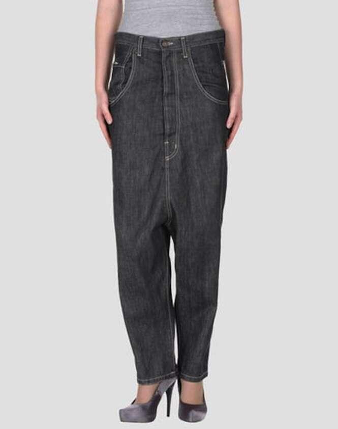 Peças jeans difícil de acreditar que alguém teria coragem de usar