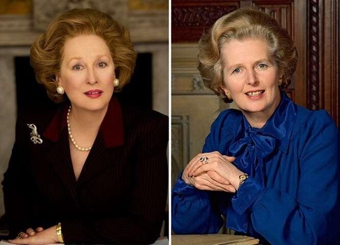 Fotos mostrando a semelhança impressionante entre atores e os famosos que eles viveram nas telas