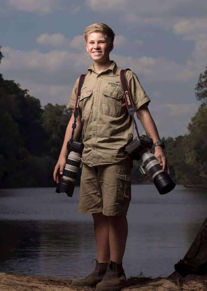O filho de Steve Irwin é um fotógrafo premiado, e essas fotos mostram o motivo