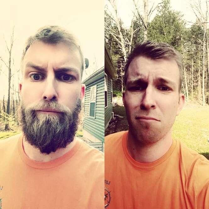 Homens que ficaram irreconhecíveis sem barba
