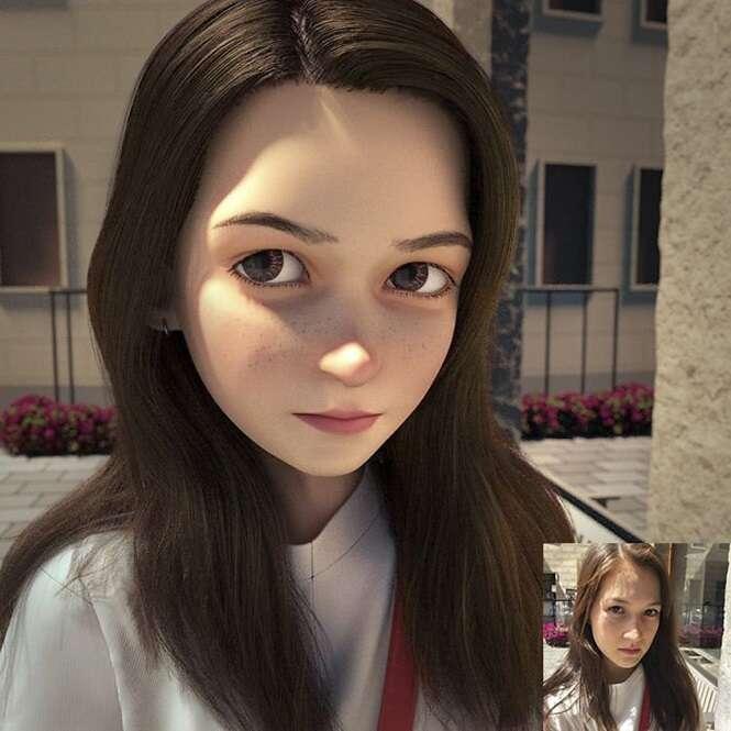 Ilustrador transforma pessoas comuns em personagens animados