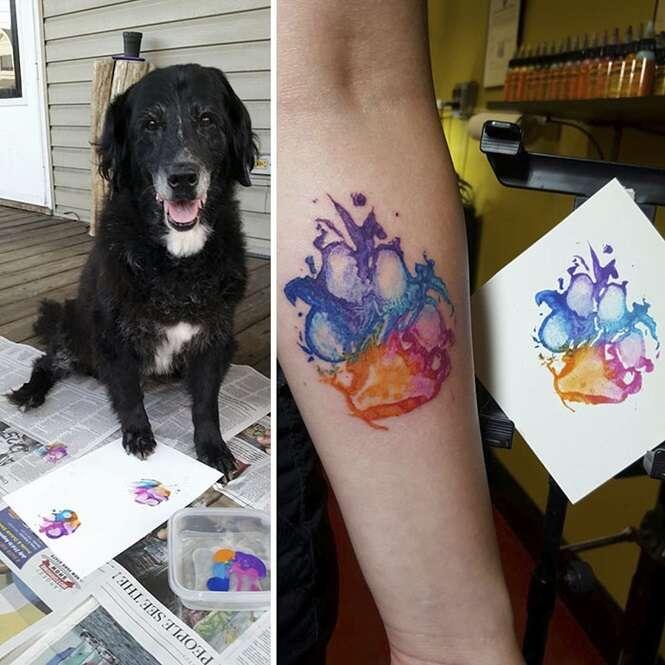 Provas de que patas caninas estão entre as melhores tatuagens que uma pessoa pode fazer