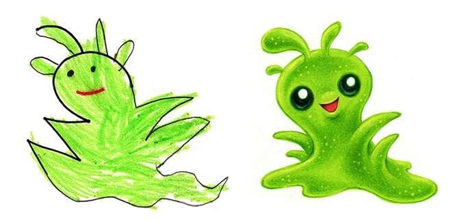 Monstrinhos baseados em desenhos infantis