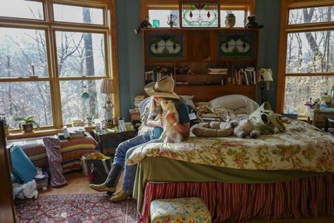 Fotos de norte-americanos na intimidade de seus quartos