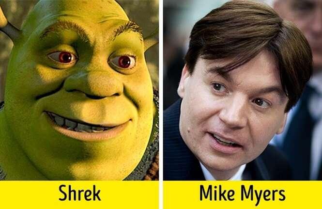 Atores que se assemelham a personagens que dublaram