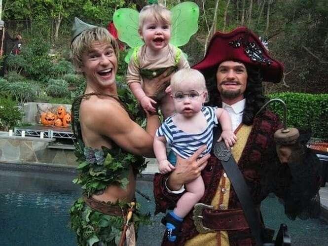 Vezes em que o ator Neil Patrick Harris e a família arrasaram no Dia das Bruxas