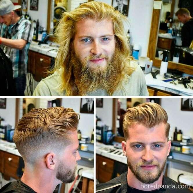 Fotos provando que um bom cabeleireiro é praticamente um cirurgião plástico