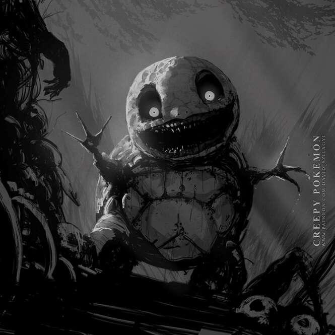Pokémons transformados em monstros sombrios