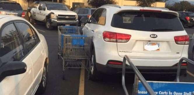 Vinganças satisfatórias contra motoristas que estacionaram como quiseram