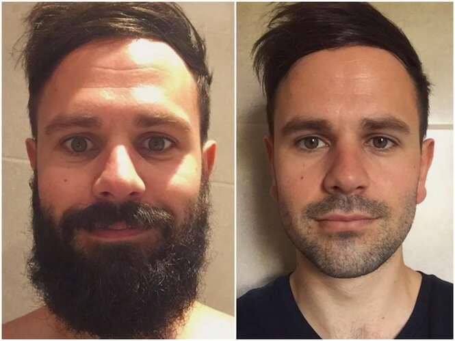 Homens que mudaram drasticamente após fazerem a barba