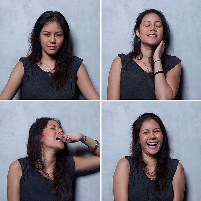 Fotógrafo registra o rosto de mulheres antes, durante e depois do ápice do prazer íntimo