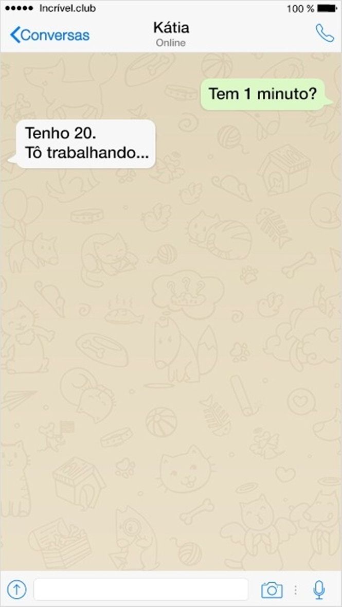 Mensagens enviadas por amigos muito bem-humorados