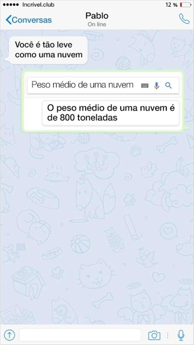 Mensagens mandadas por profissionais do xaveco