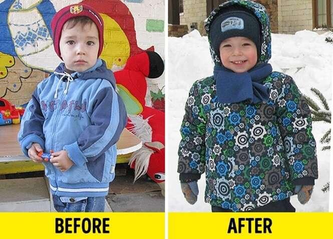 Fotos de crianças antes e depois de terem sido adotadas que podem mexer com qualquer um
