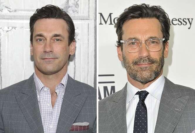 Antes e depois provando que os homens ficam melhor de barba