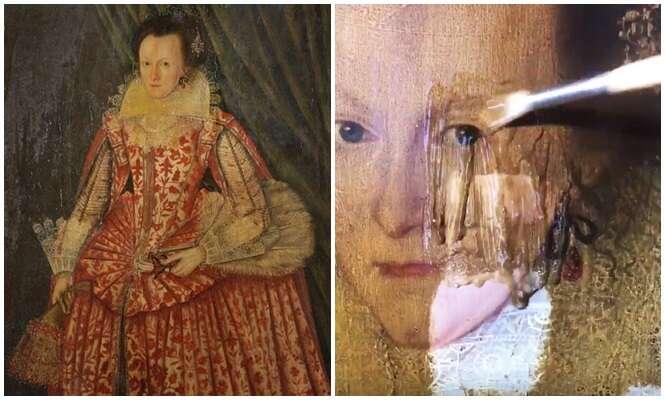 Vídeo estranhamente prazeroso mostra 200 anos de sujeira desaparecendo facilmente de pintura