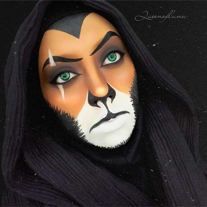 Mulher se transforma em personagens da Disney sem precisar deixar de usar seu Hijab