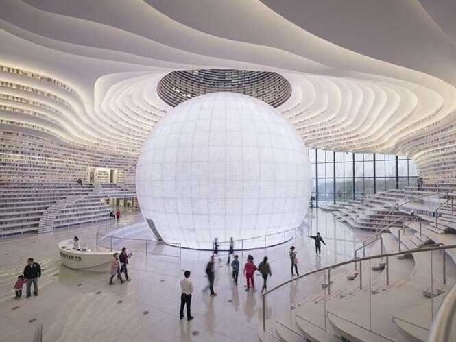 Nesta imensa biblioteca chinesa cabem mais de 1milhão de livros