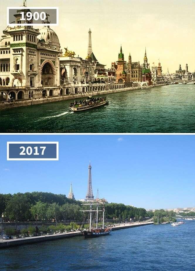 Fotos mostrando como alguns lugares mudaram com o passar do tempo