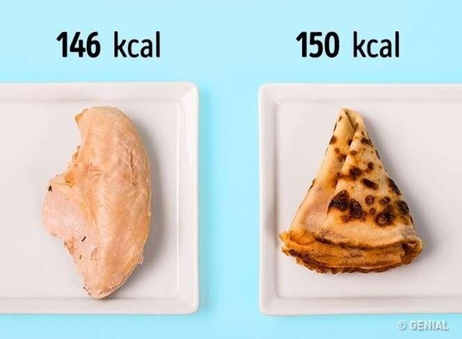 Comparações de alimentos para acabar com a sua paranoia na dieta