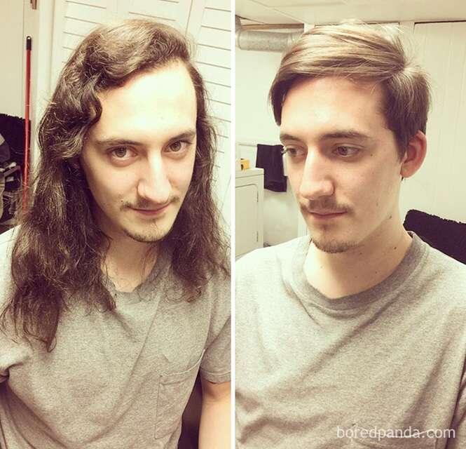Fotos mostrando que um bom barbeiro é praticamente um cirurgião plástico
