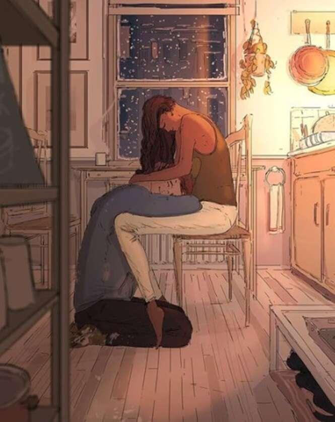 Artista retrata a vida da própria família e prova que a felicidade está nas pequenas coisas