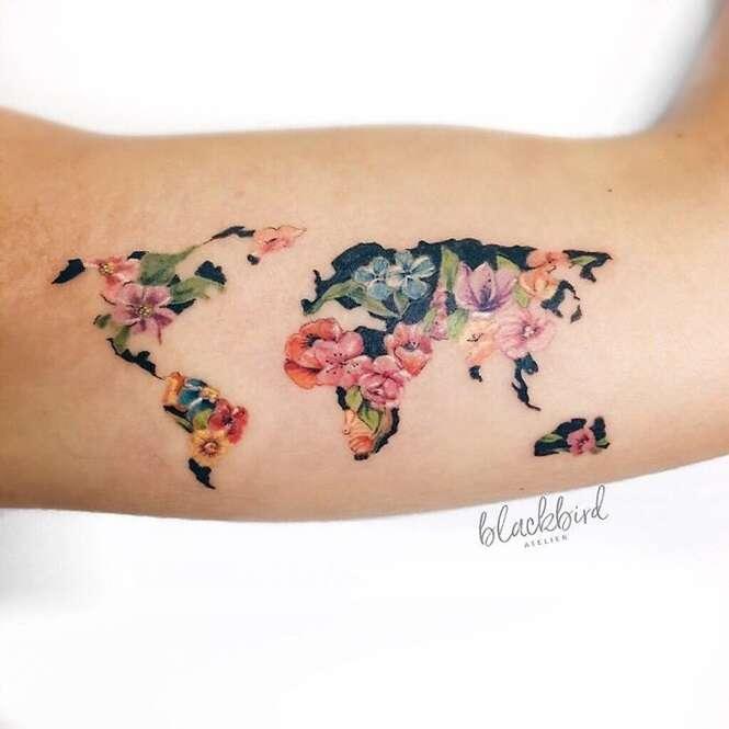 Tatuagens incríveis para quem gosta de viajar