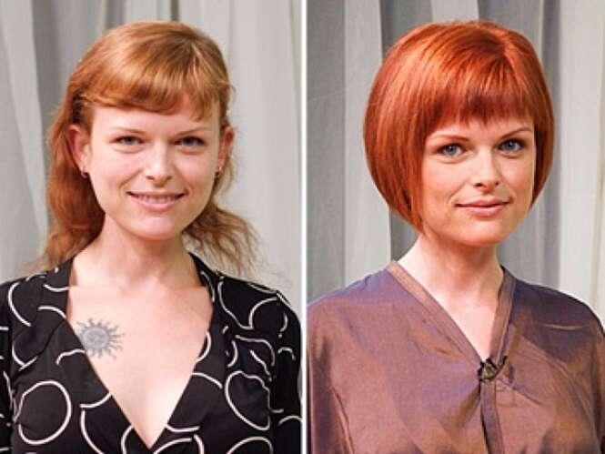 Pessoas que mudaram drasticamente após cortarem os cabelos