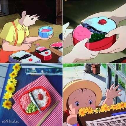 Chef apaixonada por filmes de animes reproduz pratos